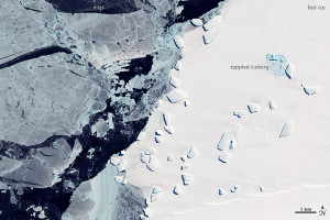 satellite photo of sea ice